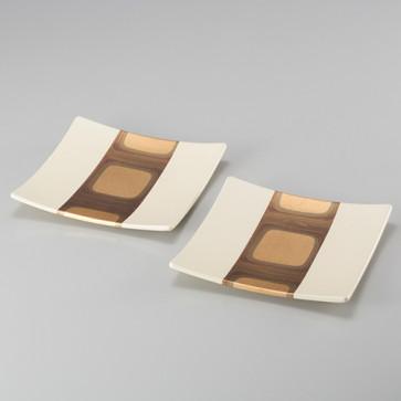 Kodaihaku Square Plates (White S) From Japan