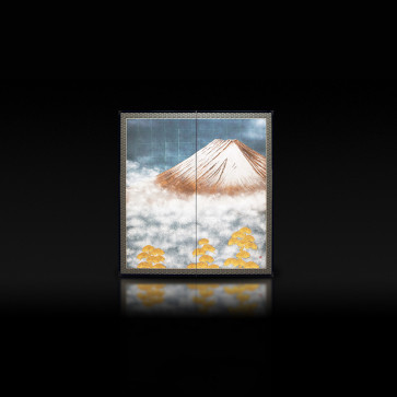 Rikyu Folding Screen: Mt. Fuji 【Free Shipping】