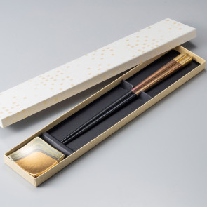 Chopsticks and Chopsticks Holder Set: Kodaihaku【Free Shipping】