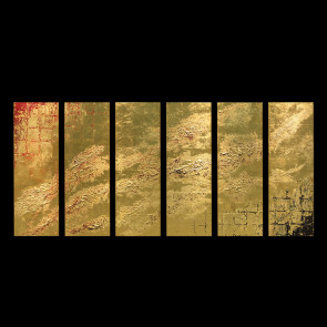 Sextuple Pure Gold Leaf Art Panel: From Birth to Saltation  【Free Shipping】