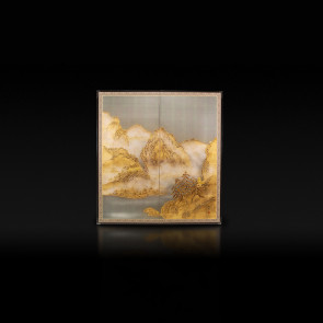 Rikyu Folding Screen: Landscape 【Free Shipping】
