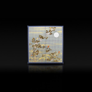 Rikyu Folding Screen: Fall Plants 【Free Shipping】
