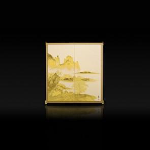 利休屏風 山水景觀(白色)