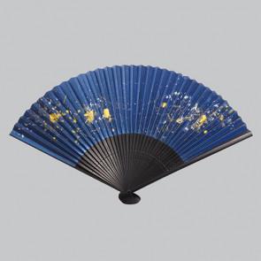 Kanazawa Gold Leaf Folding Fan: Ginga  【Free Shipping】